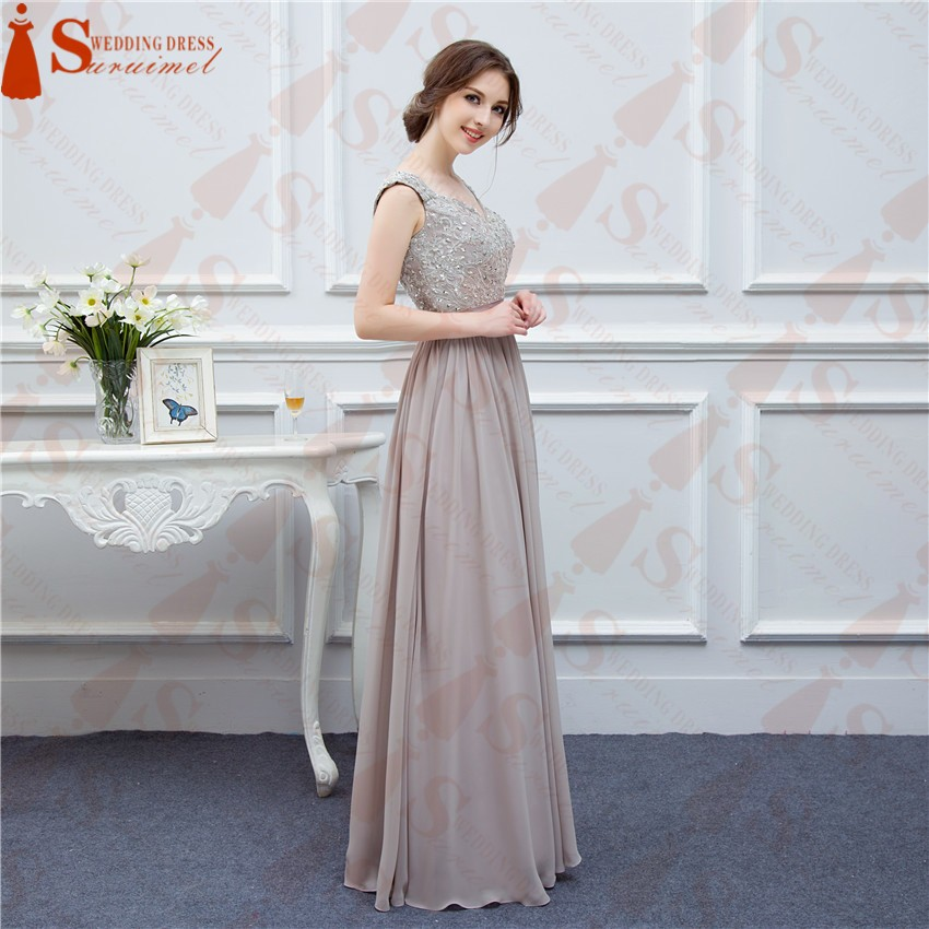 771beb8139b7e Free Shipping Gray Bridesmaid Dresses Long Chiffon High Quality Embroidery  Back Nude See Through Brides Maid Of Honor Real Photo - Buy Bridesmaid ...