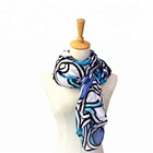 New design irregular printing polyester girl lady women fashion scarf