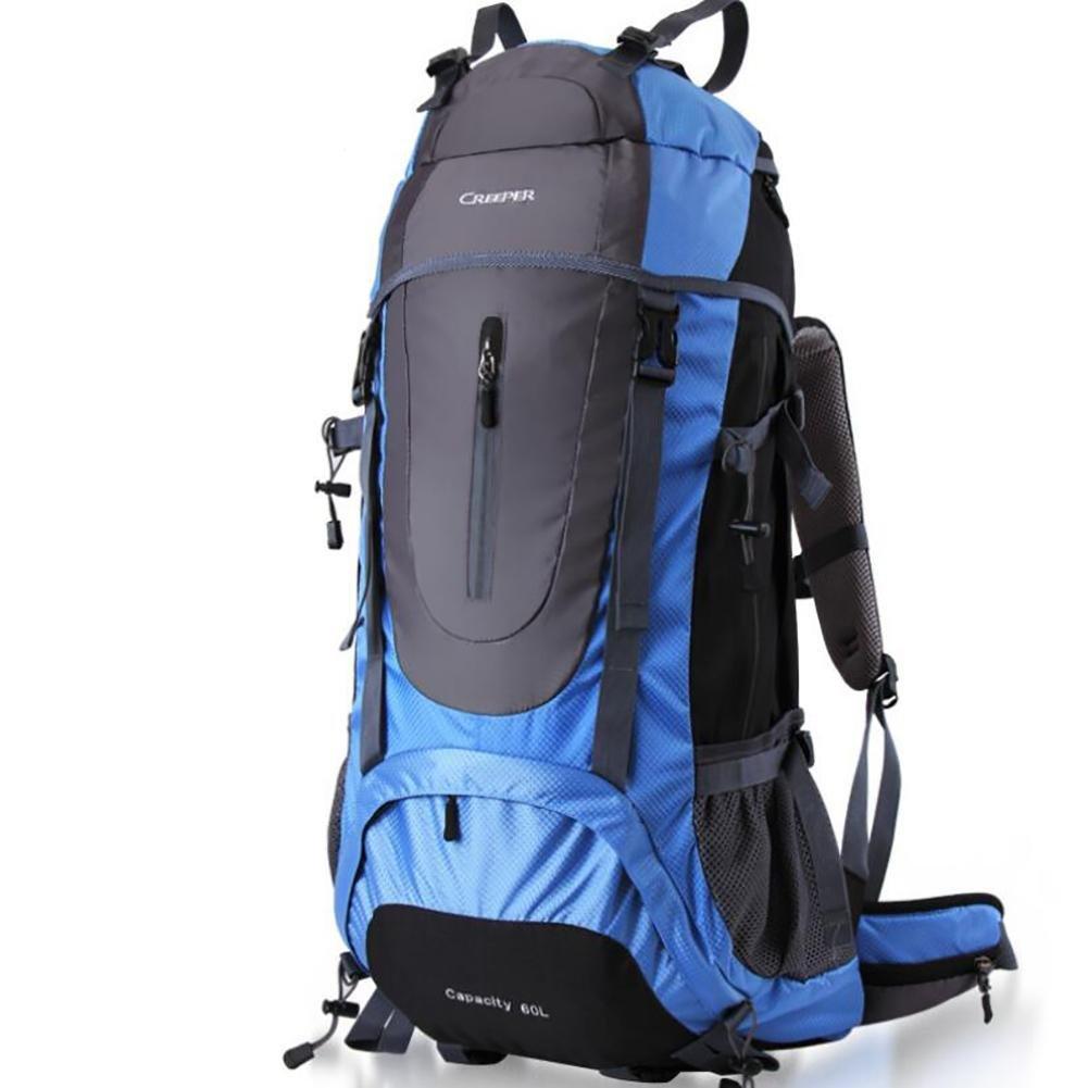 45L 60L 65L Backpacks Men Backpacks Women Mountaineering Bags Male Female Double-shoulder Waterproof , blue , 60l