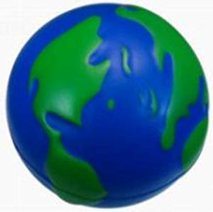 Earth Squeezie Ball - Set of 3