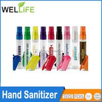 Ningbo factory wholesale Promotional Antibactrial Travel Pen Shape Spray Hand Sanitizer 10ml