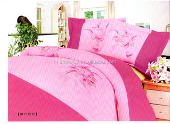 New Design Lively And Beautiful Embroidery Bedding Sets Colourful Bed Sheet