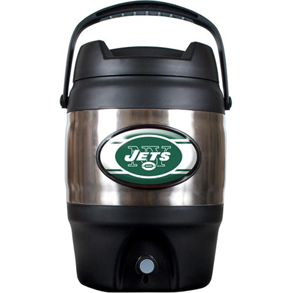NFL New York Jets Stainless Steel Tailgate Jug, 3-Gallon