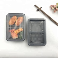 High Quality Plastic Disposable Lunch Box 2 Compartment Microwave Hot Food Container