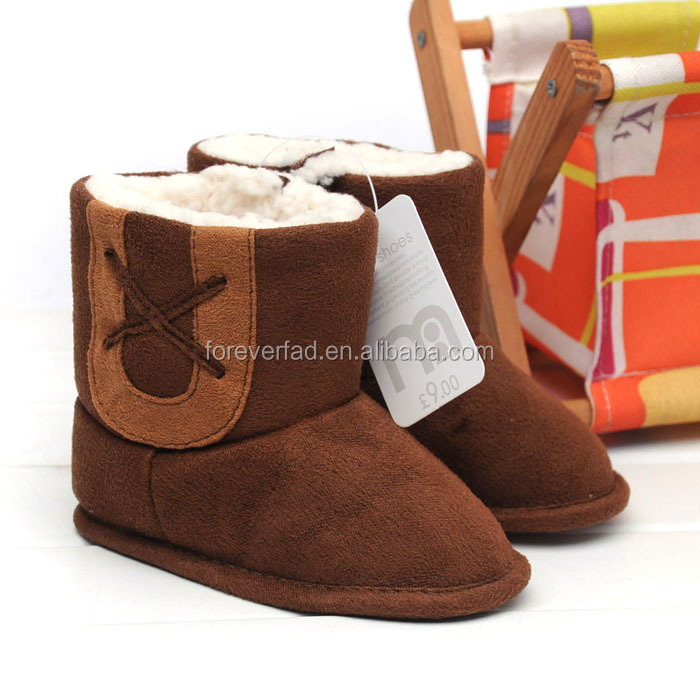 Wholesale price 0-1 baby infant toddler shoes keep warm cotton boot shoe baby