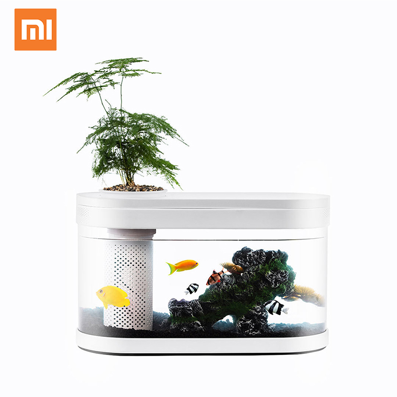 Xiaomi USB Desktop Mini Aquarium Aquarium Glas 5 Kleur LED Lamp Licht Led Aquarium Fish Tank