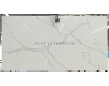 Factory Direct CE Approved Calacatta Quartz White Veins Stone