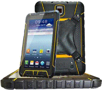 ST907 7 inch Android CCD barcode scanning rugged tablet pc