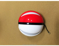 2016 Popular pokeball portable phone charger for pokemon go game with LED Light