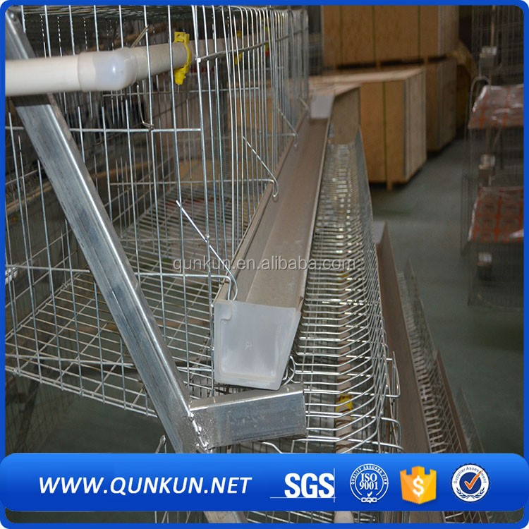 gabbie bambino/Poultry farm house battery cage with hand controling feeding equipment