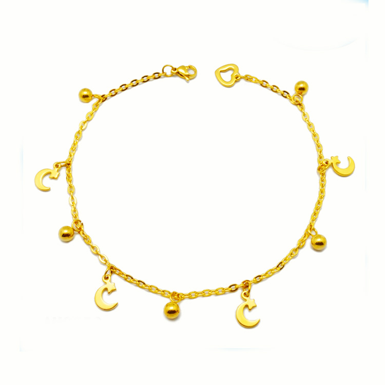 Best selling products gold jewellery dubai stainless anklet bracelet gold anklets jewelry designs for babies