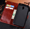 Wallet Phone Case PU Leather Stand PU Flip Book case Mobile Phone Case for meizu Charm blue 3s with Card Slot