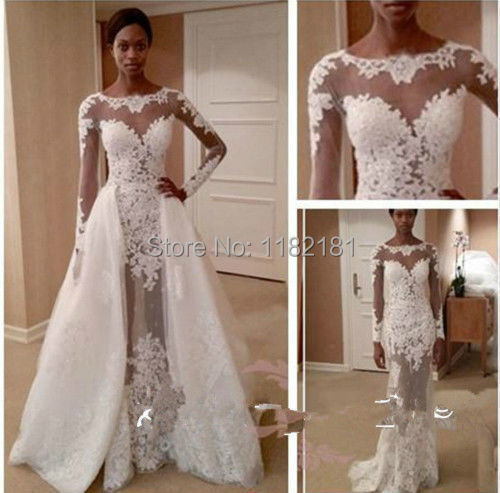 Discount Custom Vintage Greek Style A Line Detachable: Popular Detachable Wedding Dress Train-Buy Cheap