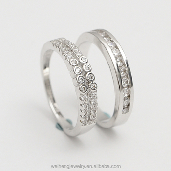 Custom Engraved Couple S Name Marriage Rings Wedding 5925 Silver