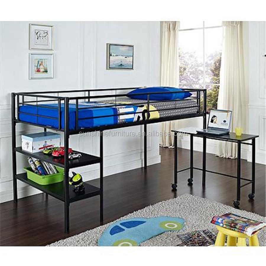 Noir / argent enfants chambre meubles lits enfants bas lit ...