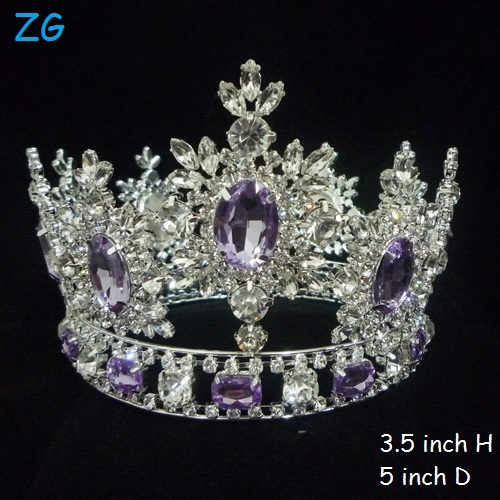 Hottest Luxurious Crystal Tiaras Purple Diamond Tiara
