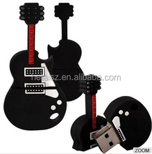 3D Guitar design cheap 256gb usb flash drive wholesale OEM musical instrument 1tb usb2.0 flash drive