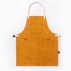 Custom Heavy Duty Flame Resistant & Heat Resistant leather welding work apron for men