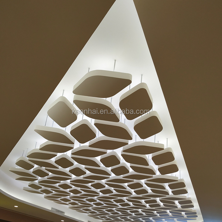 Laser Cut Exterior Metal ceiling panels Mirror Stainless Steel Ceiling Tile