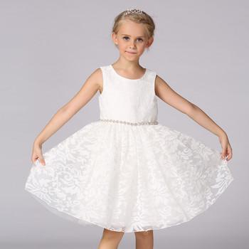 Anak Anak Gaun Pesta Bayi Musim Panas Berlian Sabuk Putri Gaun Anak