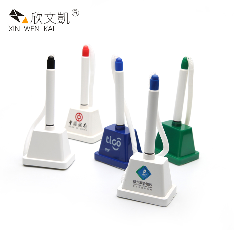 Wholesale Products Promotional Hotel Desk Pen Cheap Bank Counter Pen With Chain