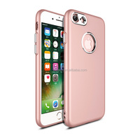 Hot selling 2017 new products 360 degree fawless PC electroplating and TPU oil painted antifinger phone case for iphone 7