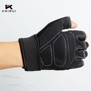 Wholesale best selling custom logo weight lifting gym gloves for mens