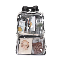 Customized Top Quality Transparent Young Clear PVC Backpack