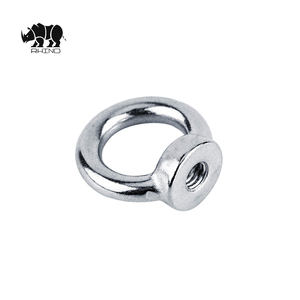 Rigging Hardware Metric Thread Carbon Steel Zinc Plated DIN 582 Lifting Oval Eye Nut Ring Fastener for Cable