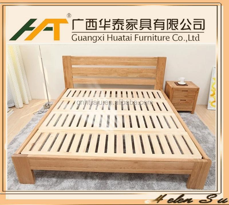 Warm te koop massief houten eiken slaapkamer bed nieuwste dubbel bed ontwerpen moderne - Massief houten platform bed ...