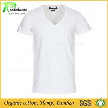 OEM mens t shirts plain white hemp brand t-shirt