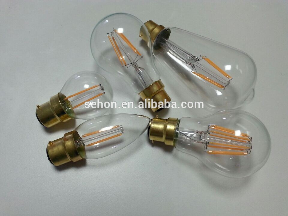 E27 12 Volt Led Filament Bulbs 2700k 3000k St64 French Pendant Light For Restaurant 4w 6w 8w