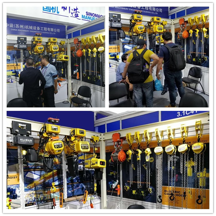 ALLMAN 2018 New Europe Compact Design M5/2m RUD loading chain Equipped electric chain hoist with trolley