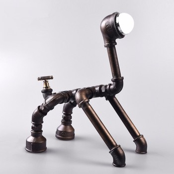 6 25 2 Robot Dog Pipes Lamp Handmade Custom Diy Original Design Buy Robot Dog Pipes Robot Dog Lamp Handmade Pipes Lamp Product On Alibaba Com
