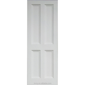 White Paint Color China Supplier Solid Wood 4 Panel Door Interior