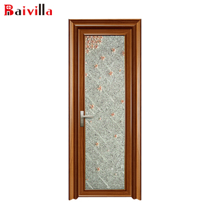 Waterproof Glass Aluminum Specifications Folding Door Toilet