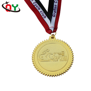 Free sample gold zinc alloy custom running medals soft hard enamel painting metal golden sports cycling running medal