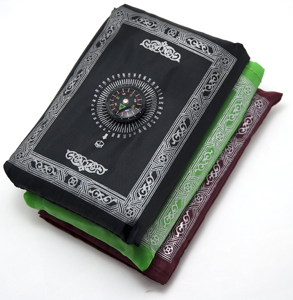 Indian prayer item with compass Portable mat for adults and kids
