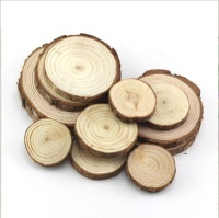Unfinished Round Rustic art decoration Natural Wood Slice Ornaments circles DIY crafts