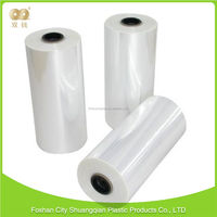 Mass supply reasonable price blow molding clear Color pof shrink film center folded