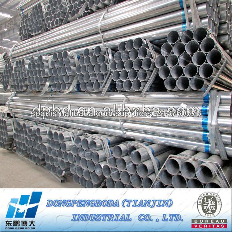 Precio tubo hierro galvanizado tubo redondo de acero for Perfiles de hierro galvanizado precio