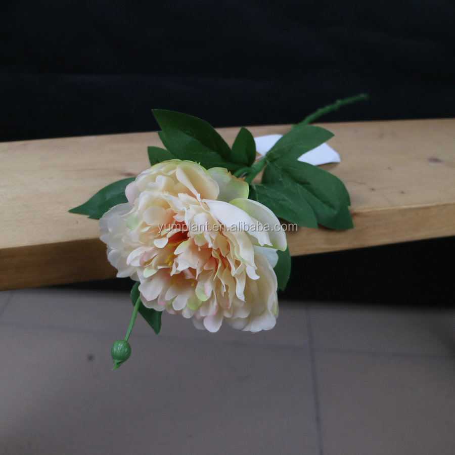 High quality artificial silk single stem peony flower wholesale