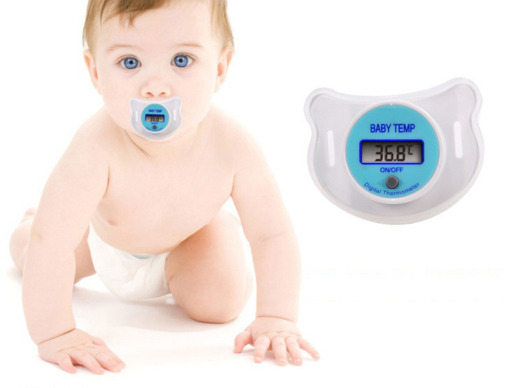 0-4years pacifiers for babies Baby Care Portable Digital LCD pacifier thermometer baby nipple soft safe Mouth Thermometer
