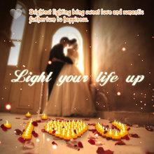 jaune led clignotant tea light dcoration de mariage indien - Grossiste Decoration Mariage Pour Professionnel