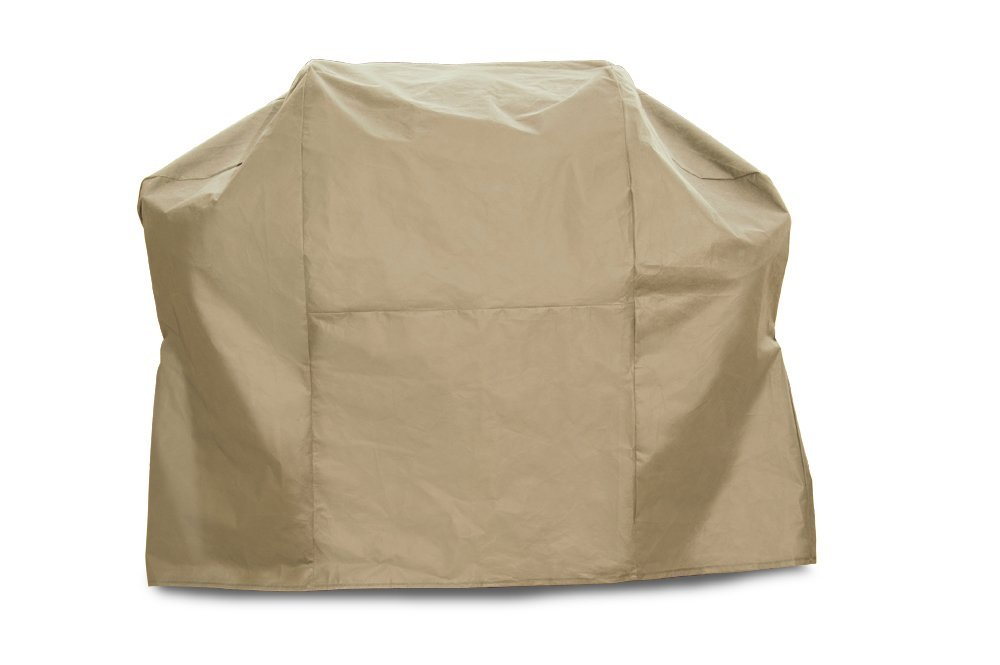 """Budge English Garden Heavy Duty Waterproof BBQ Grill Cover Fits Grills 60"""" Wide, Tan Tweed"""