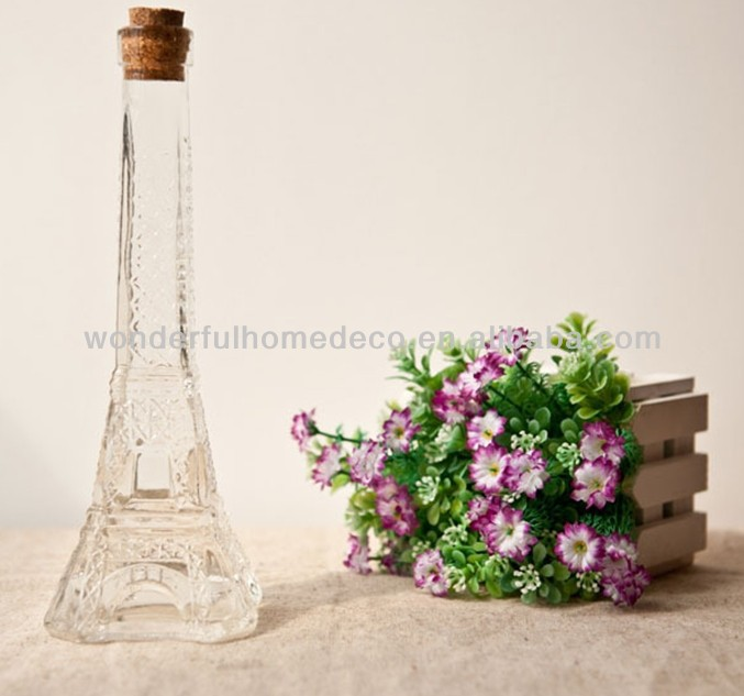 clear mini small flower glass vase