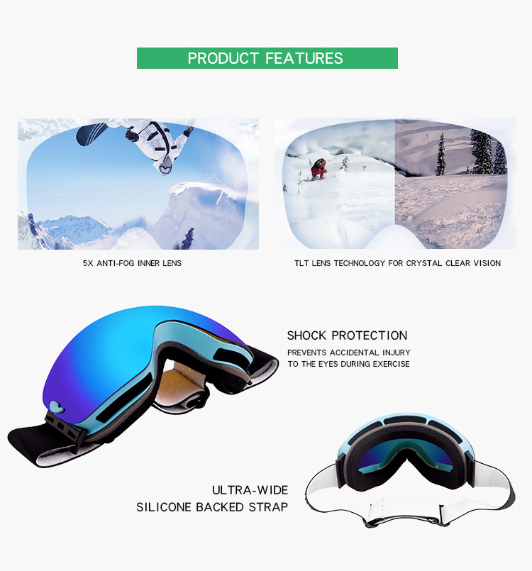 562ca3798e81 Newest Style Wholesale China Manufacturer Ski Sport Goggles Polarized  Snowboard Myopia With Nose Guard