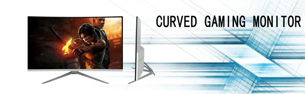 2 k 4 k पूर्ण HD 32 inch 144 hz घुमावदार frameless गेमिंग मॉनिटर के साथ कम कीमत
