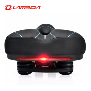 Inbike bicycle saddle with tail light widen mtb cushion road bike soft comfortable seat spare parts for bicycles