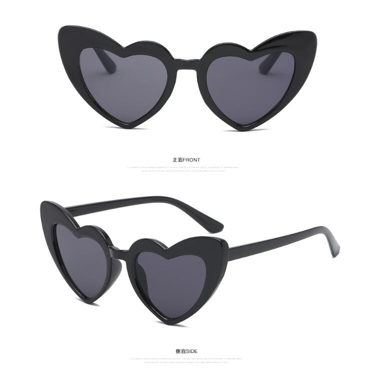 2019 Trendy Newest Fashion uv400 kids heart sunglasses children custom logo